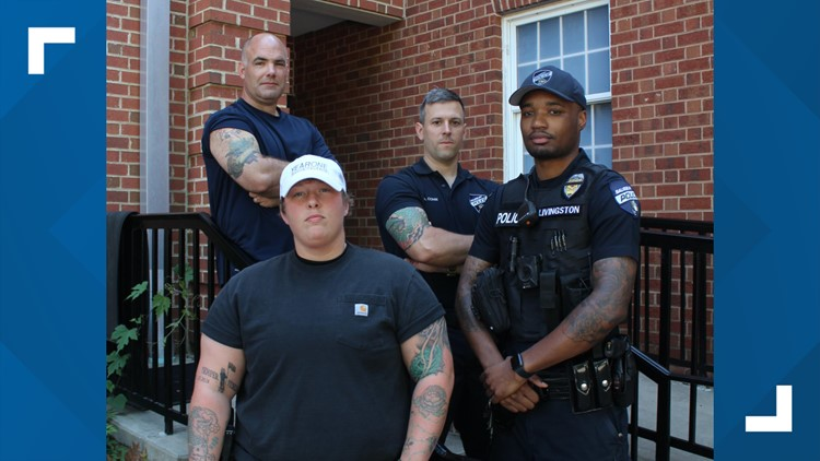 Officers with tattoos
