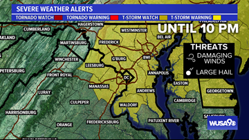 Severe Thunderstorm Watch until 10 PM for DC, MD, VA