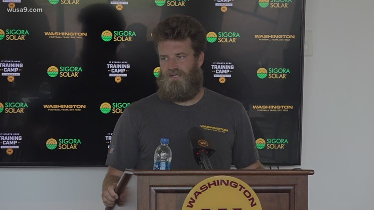 Washington Football Team's Ryan Fitzpatrick talks about how his family is dealing with COVID vaccines