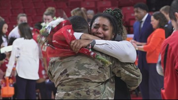 Happy reunion for couple in College Park