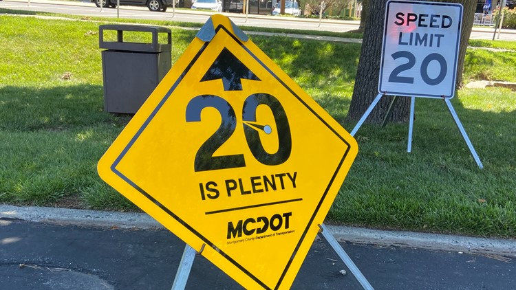 Montgomery County looking at reducing speed limit to 20mph on up to 70 streets