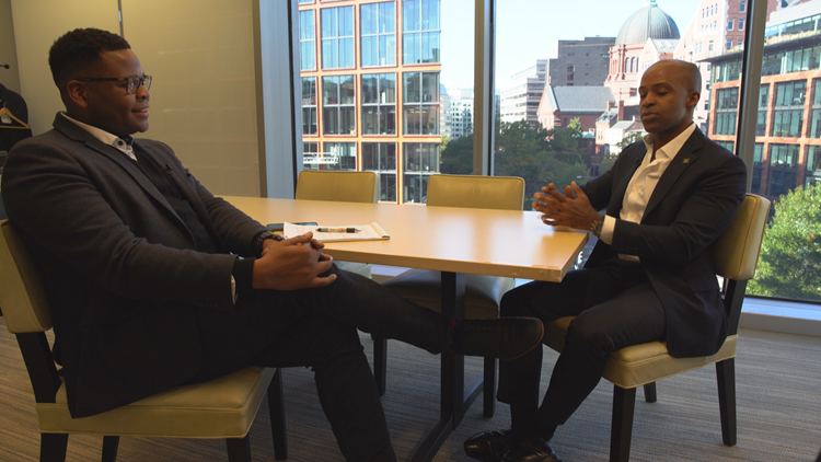 Larry Miller talks to Alphonso David