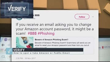 VERIFY: Are those Amazon emails telling you to reset your