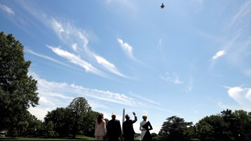 F-35 flyover for Trump and Polish president surprises DC workers
