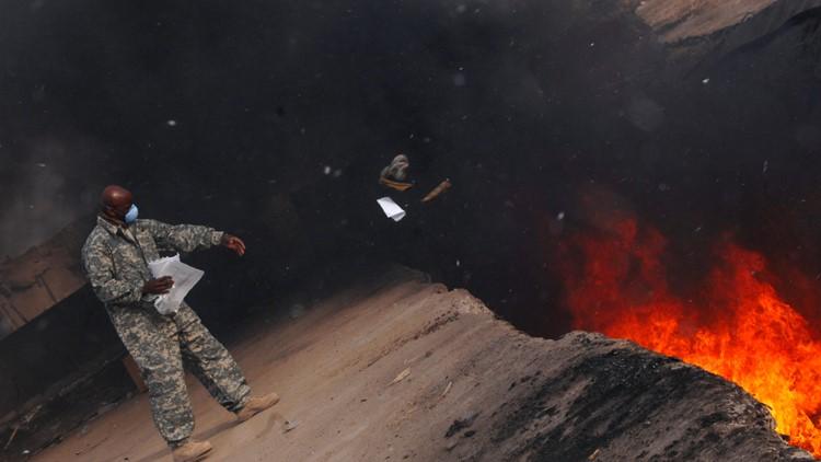 army burn pits garbage