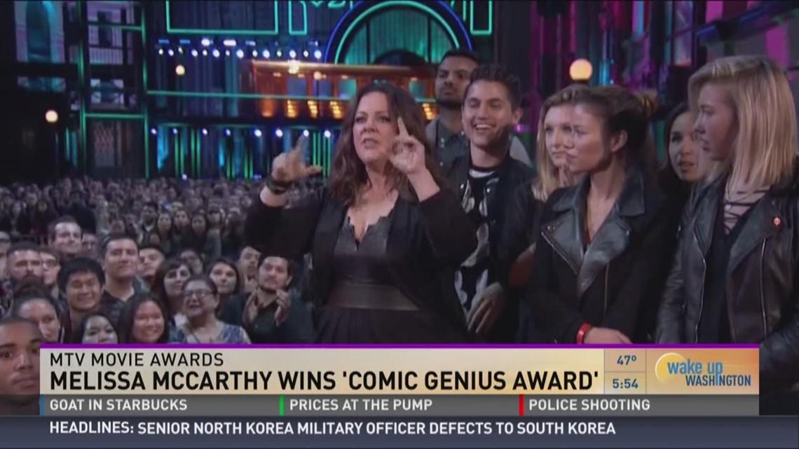 Melissa McCarthy wins 'Comic Genius Award'