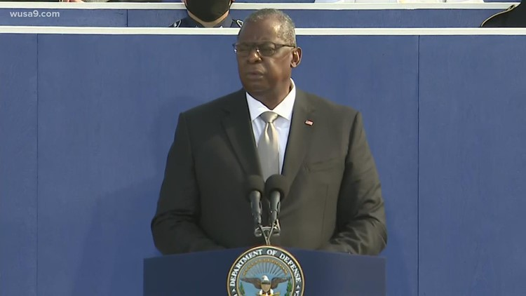 Defense secretary honors the lives lost at Pentagon on 9/11