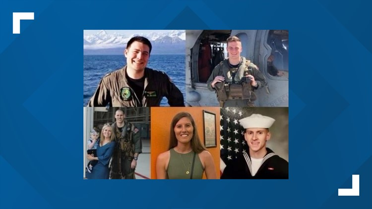 3 of the 5 Sailors killed in Navy helicopter crash are from Virginia, Maryland