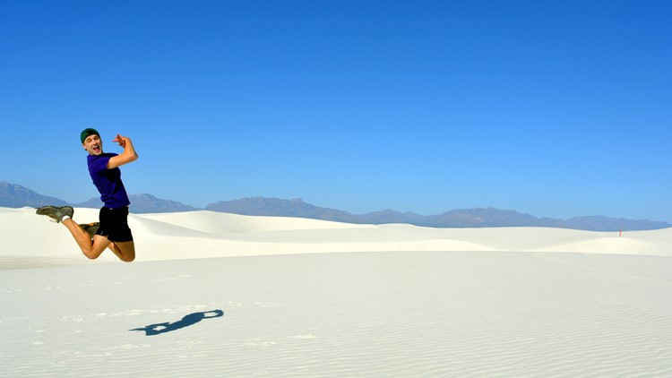 Mikah at White Sands National Monument