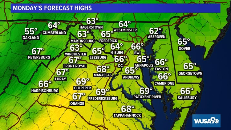 Cool, breezy through Monday then a brief warm-up