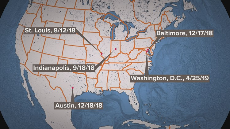 WUSA9 has found at least five incidents in the last year