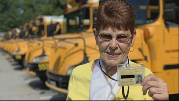Meet the 79-year-old school bus driver. She is approaching 5 decades behind the wheel