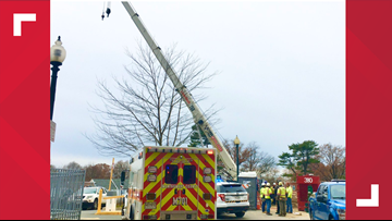 Construction worker struck by moving crane in Silver Spring, fire officials say