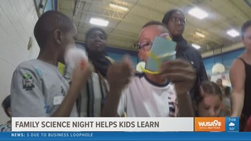 Family science night makes learning fun