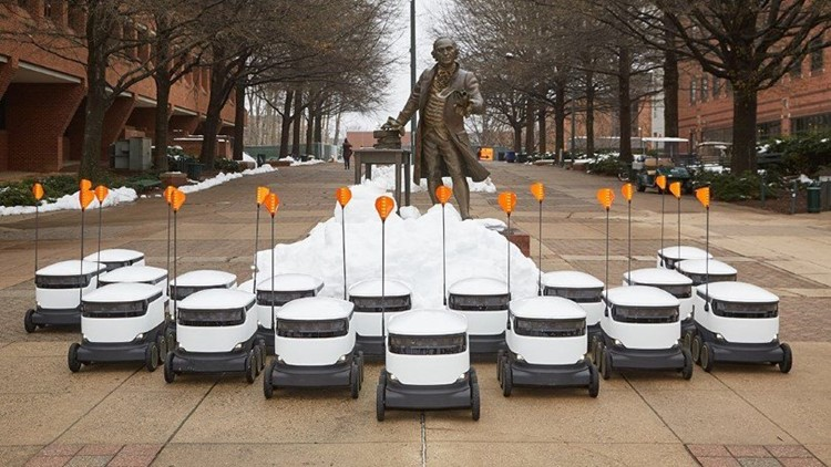 Technology of future delivers doughnuts of today on George Mason University campus