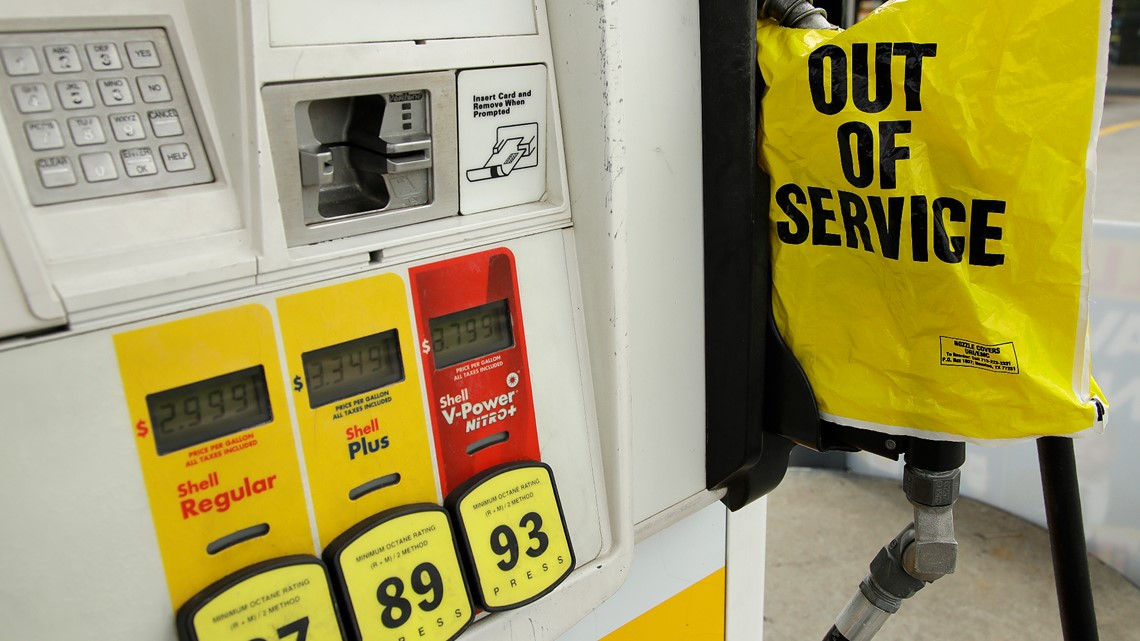 Gas stations are running low on supply in the DMV and prices are rising