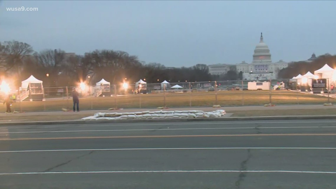 This is what the National Mall in DC looks like before Inauguration