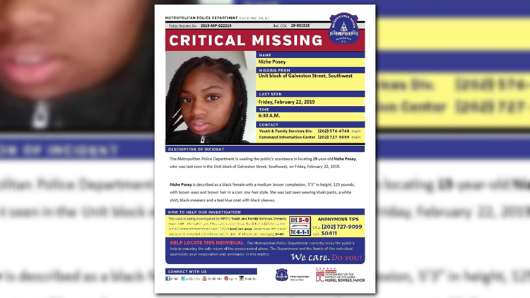 CRITICAL MISSING: 15-year-old from Southwest, DC