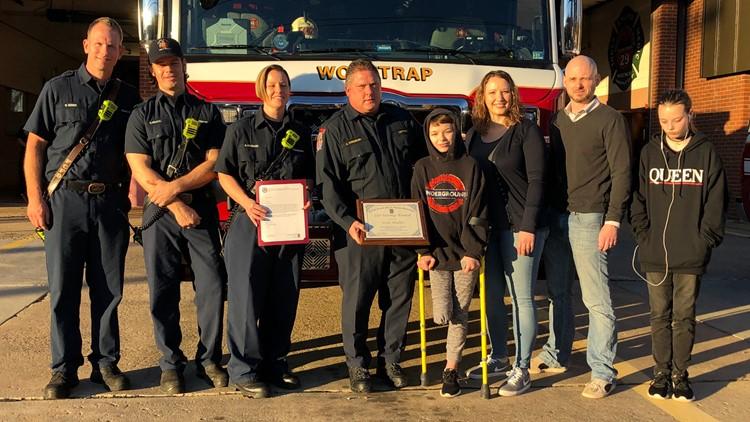 Virginia girl honored for saving mom's life
