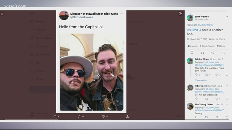 Hawaii Proud Boys leader seen smoking during Capitol riot charged by the Feds