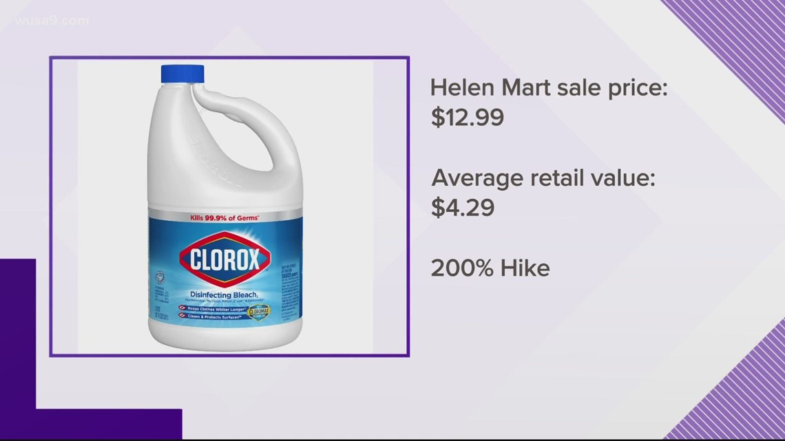 DC store sued by AG for alleged 200% price gouge on cleaning products