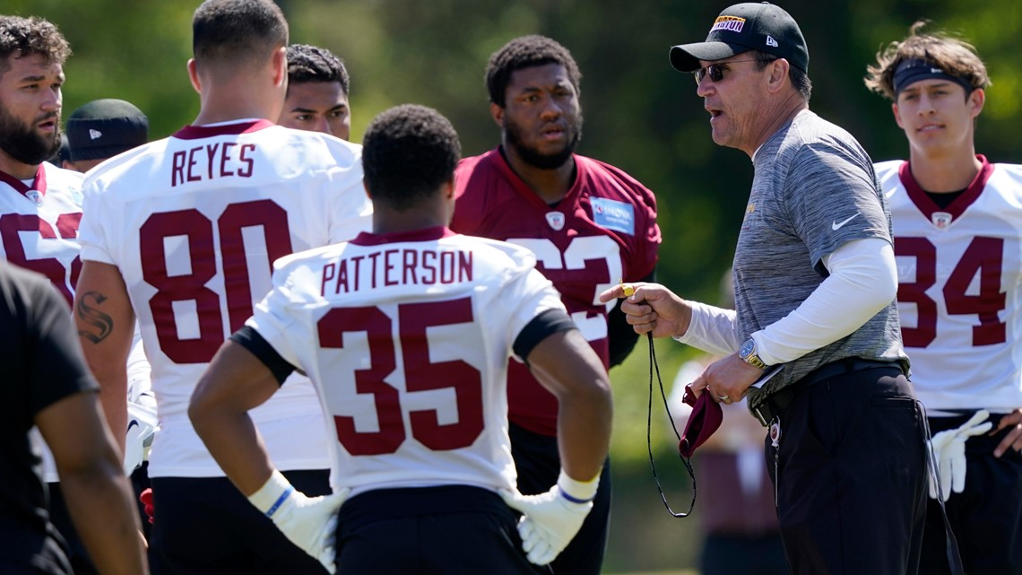 Washington Football team rookies report to minicamp
