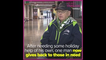 Man comes full circle, volunteers at holiday food bank after years relying on it