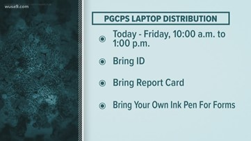 Prince George's County laptop pick-up information for students