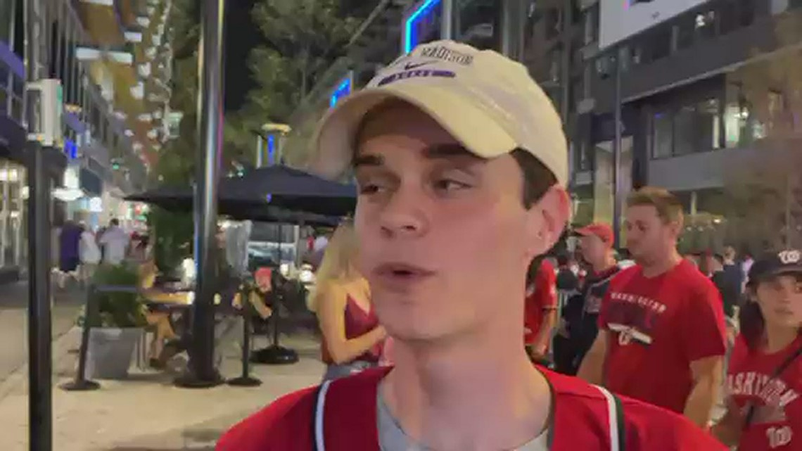 Nationals Park: Fans react after shooting outside Washington Nationals stadium