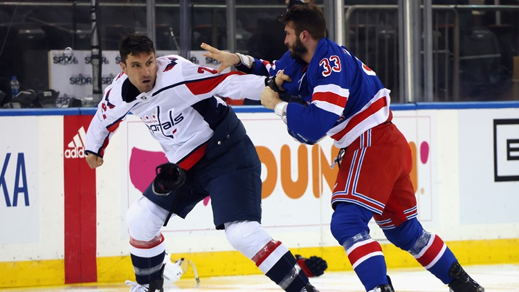 That escalated quickly | Caps, Rangers game opens up with 6 fights amid revenge over Tom Wilson