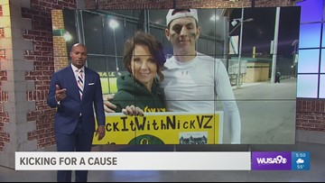 Loudon County football player kicking cancer to the curb