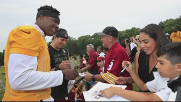 Rapid 9 with the Redskins' Dwayne Haskins