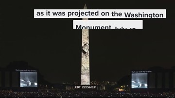 At least half a million people watched Apollo 11 moon landing on the Washington Monument
