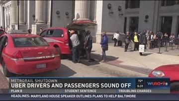 Metrorail shutdown creates busy day for Uber, Lyft | wusa9 com