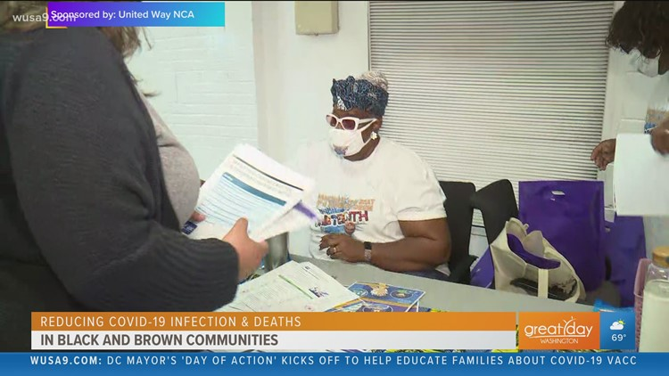 Reducing COVID-19 infection and death rates in Black and Brown communities with The United Way NCA