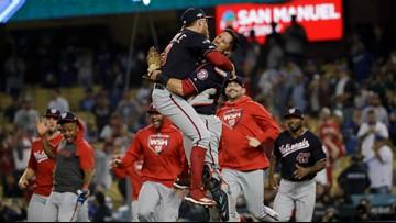 WATCH: Nationals locker room celebration marks historic NLDS win