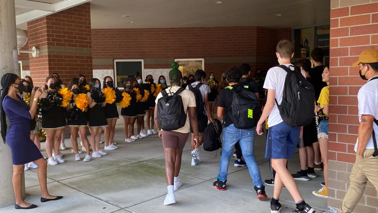 It was a warm welcome for students returning to in-person learning in Montgomery County