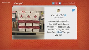 Can you build a DC flag from Pret bags?