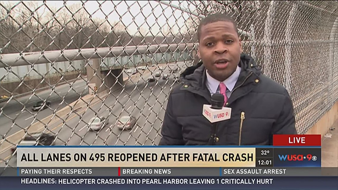 All lanes on 495 reopened after fatal crash | wusa9 com