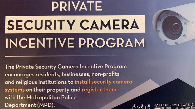 private security camera incentive program DC