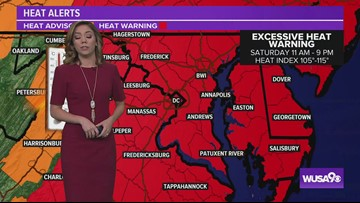 Red Weather Alert: Heat Index 105-115 degrees this weekend