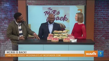 The McRib is back after a 10-year hiatus!