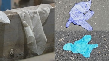 Improper disposal of wipes, gloves spark health, environmental concerns