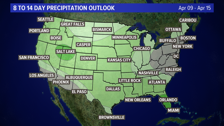 8 to 14 Day Precipitation Outlook