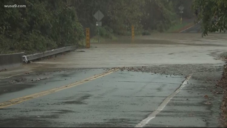 Flooding, downed trees, road closures & rescues reported across DMV