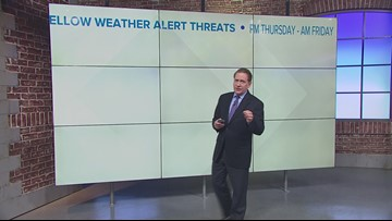 Quick shot of snow coming Thursday