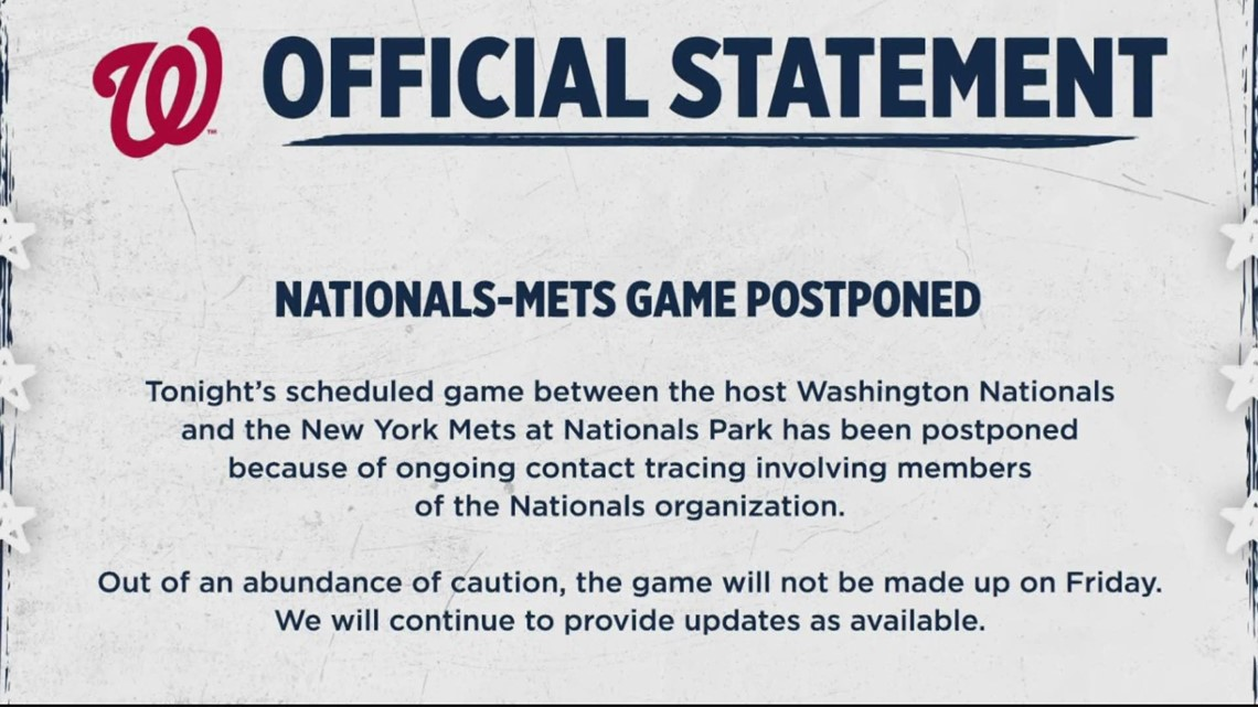 Nationals postpone Opening Day after a player tests positive for COVID