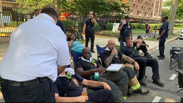 Crews suffer from heat exhaustion while battling DC apartment fire