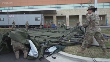National Guard hits streets of MD, DC and VA, ready to fight coronavirus