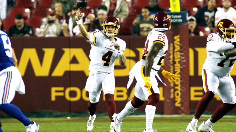 Washington gets first win of season with a game-winning field goal against Giants